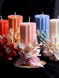 colorido vela con la boda flores de coral
