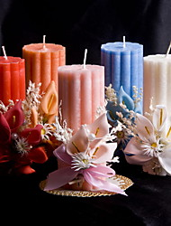 vela colorido com flores do casamento coral