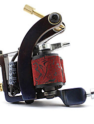 Carbon-Steel Wire-Cutting Dual Coils 10 Wraps Tattoo Machine for Shader