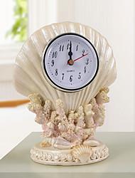 Shell Polyresin Table Clock