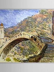 Pintura a óleo famosa Ponte de Dolceacqua por Claude Monet