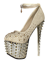 Sparkling Glitter Rivet Stiletto Heel Closed Toe With Platform Pumps Party / Evening Shoes