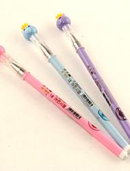 Súper Corona Cerdo Negro Gel Ink Pen (colores aleatorios)