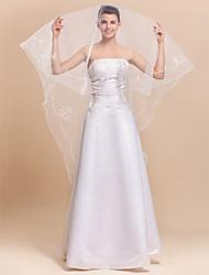 One-tier Tulle Waltz Length Wedding Veil With Pencil Edge