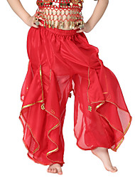 Dancewear Lovely Chiffon with Sequins Belly Dance Bottom For Children More Colors