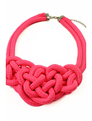 Women's Luxurious Thick Knitting Fluorescence Color Necklace