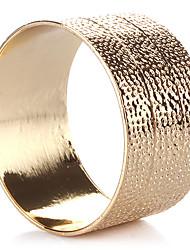 Set of 4 Modern Design Golden Zinc Alloy Napkin Ring