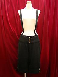 Pants Classic/Traditional Lolita Lolita Cosplay Lolita Dress Black Solid Lolita Lolita Pants For Women Velvet