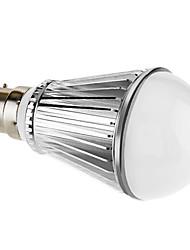 7W B22 Ampoules Globe LED A60(A19) 7 LED Haute Puissance 450 lm Blanc Naturel Gradable AC 100-240 V