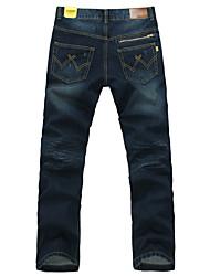 Hombre Azul Algodón Mediados Rise perder Jeans