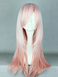 Lolita Wigs Sweet Lolita Color Gradient Long White / Pink Lolita Wig 62 CM Cosplay Wigs Patchwork Wig For Women