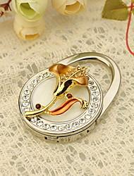 Oro Floral monedero Favor Valet con diamantes de imitación
