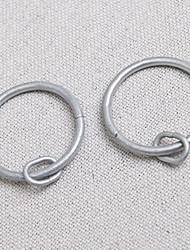 Standard Round Silvery Finish Rings