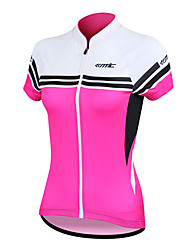 SANTIC® Cycling Jersey Women's Short Sleeve BikeBreathable / Quick Dry / Anatomic Design / Ultraviolet Resistant / Front Zipper /