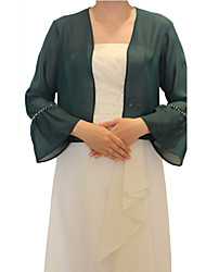 Long Sleeve Chiffon Evening/Casual Wrap/Evening Jacket (More Colors) Bolero Shrug