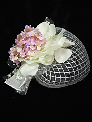 Women's Satin/Imitation Pearl/Net Headpiece - Special Occasion Fascinators