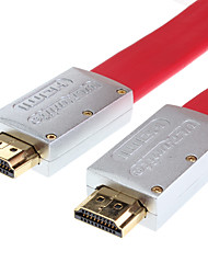 ULT-unite HDMI V1.4 AV Flat Cable with Ethernet High Speed Standard HDMI Cable  (3 m, Red)