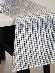Silver / As per picture Polyester Table Runners