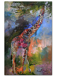 Stretched Canvas Art Animal Giraffe by Richard Wallich Ready to Hang
