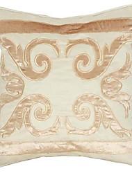 Antique Pattern Faux Suede Decorative Pillow Cover