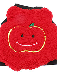 Dog Coat Red Winter Fruit