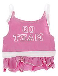Dog Dress Pink Dog Clothes Summer Letter & Number