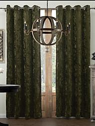 неоклассические две панели горит зеленым гостиная полиэстер панели шторы портьеры