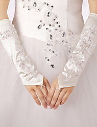Elbow Length Fingerless Glove Satin/Lace Bridal Gloves/Party/ Evening Gloves