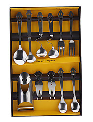 Smile Face Style 11pcs Tableware Set with Gift Box
