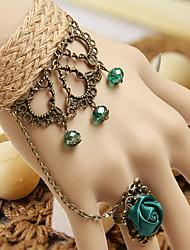 Handmade Linen Classic Lolita Ring Bracelet