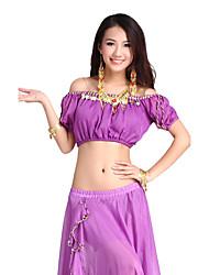 Ropa de la gasa de la danza de vientre superior para las señoras más colores