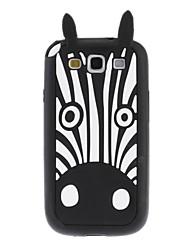 Bonito Pattern Silicone Macio Zebra para Samsung I9300 Galaxy S3