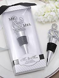 """""""M. et Mme"""" Chrome Ampersand bouchon de bouteille"""