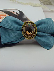 Handmade Sky Blue and Ink Blue Bow Klassische Lolita Haarspange