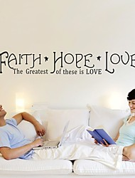 Faith Hope Love Wall Sticker