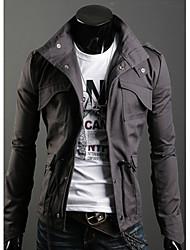 estande gola da jaqueta masculina