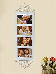 4 in 1 Retro Style White Wooden Picture Frame