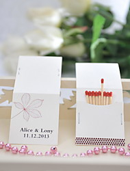 Wedding Décor Personalized Matchbooks - Leaf (Set of 50)