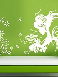 Flower Girl Schmetterling Wandaufkleber
