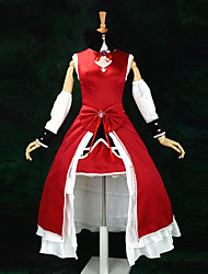 Inspired by Puella Magi Madoka Magica Kyoko Sakura Anime Cosplay Costumes Cosplay Suits / Dresses Patchwork Red SleevelessDress /
