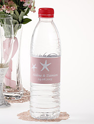 Personalized Water Bottle Sticker - Starfish (Pink/Set of 15)