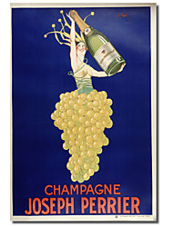 Printed Canvas Art Vintage Champagne - Joseph Perrier by Vintage Posters with Stretched Frame