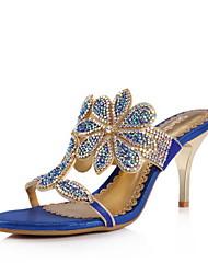 Конкретные кожа шпильках пятки сандалии с Rhinestone партии / вечер обувь (больше цветов)