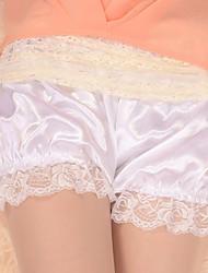Pants Classic/Traditional Lolita Lolita Cosplay Lolita Dress White Solid Lolita Dress For Satin