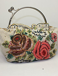 Lady Fashion Vintage Rose Pattern Clutch