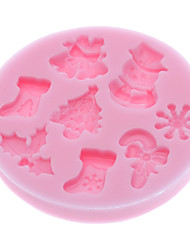 3D Christmas Theme Silicone Cookie Chocolate Biscuit Mold