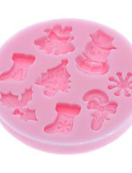 3d Weihnachten Design Silikonplätzchenschokoladenbiskuitform