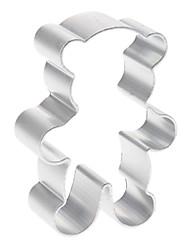 urso de alumínio em forma de cortador de biscoito biscuit