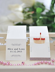 Wedding Décor Personalized Matchbooks - Classic Pattern (Set of 25)