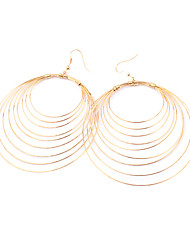 Drop Earrings Hoop Earrings Alloy Silver Golden Jewelry Party Daily